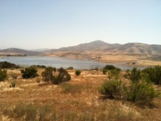 Here is a reservoir that supplies our water. We live in a desert and so there are consequences.