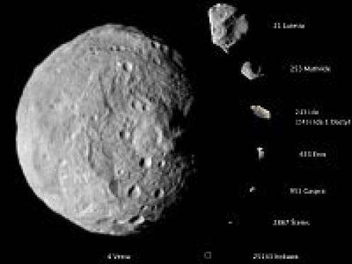 Asteroids-VESTA-LUTETIA-MATHILDA-IDA and moon Dactyl-EROS-GASPRA-STEINS-ITOKAWA