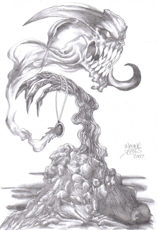 A Demon pencil Drawing that was the inspiration behind my next graphic novel project.