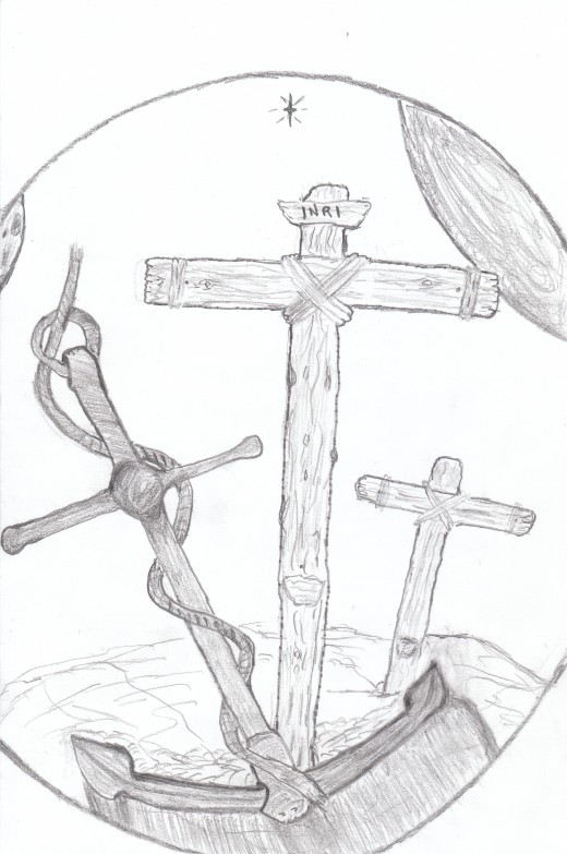 Anchored to the Cross this is my Company's Logo and Mantra. If you wish to Live an eternal life anchor yourself to the Cross of Jesus Christ