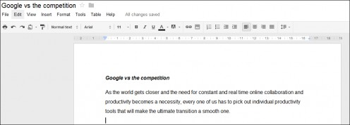 Sample Google Document