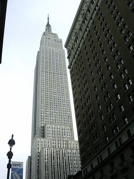 The Empire State Building narrows inward to conform to the building codes of 1916.