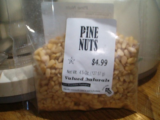 Pine nuts add a distinctive flavor to crust.