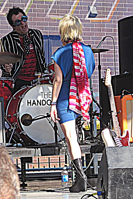 Drummer Brad Elvis and lead Chloe F. Orwell
