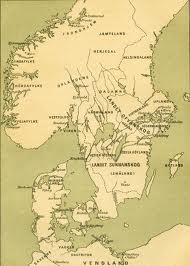 The Kattegat is the stretch of sea between Jylland and Halland, north of that the Skagerrak off Skagen near the north-eastern tip of Jylland. On an inlet of the west coast of the peninsula is Ribe