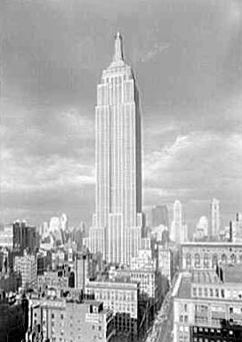The Empire State Building in its early days.