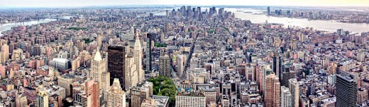 Panoramic View from The Empire State Building