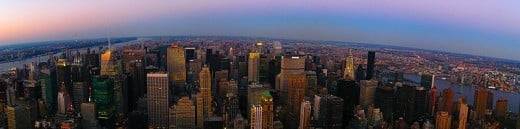 From the Observation Tower of The Empire State Building you can get a 360 degree view