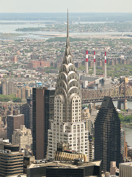 A view of the Chrysler Building from The Empire State Building