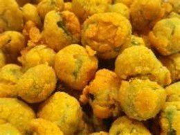 No, no, no. . . this fried okra has too much batter and lots of good flavor will be lost.