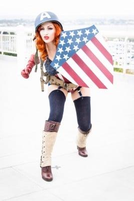 Woman dressed as Captain America Image credit: agezinder / 123RF Stock Photo