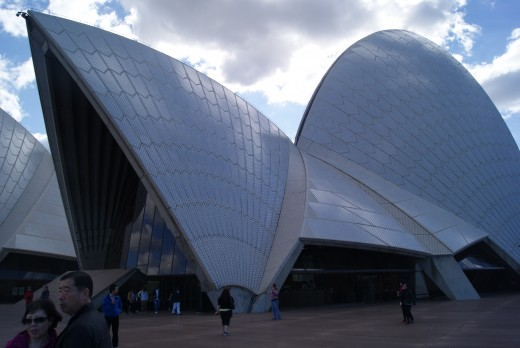 The giant sales of the Sydney Opera House are cloaked in tiles