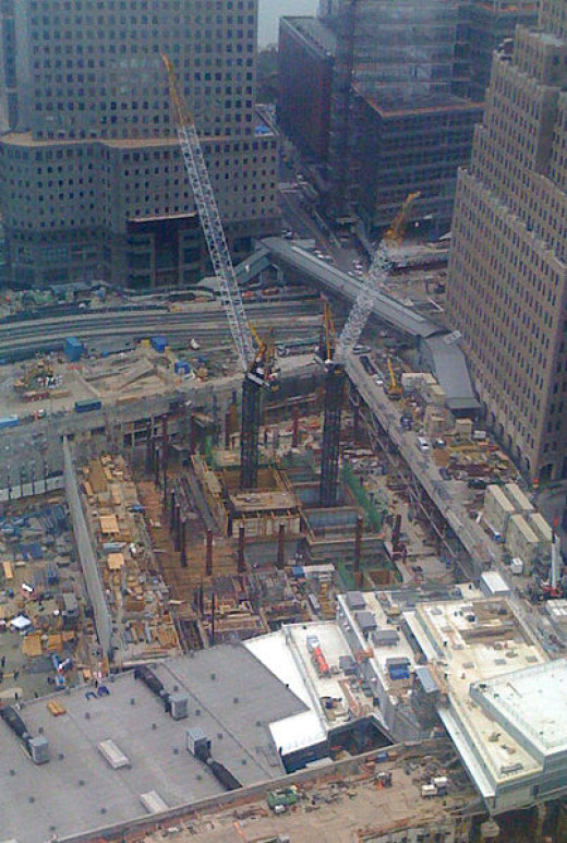 Rebuilding on the site of The Twin Towers 2006