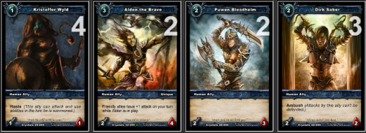 Low cost allies are important for a Victor Deck.  They allow you to put pressure on your opponent and also serve as a way to draw additional cards.