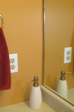 New switch plate and soap pump added.