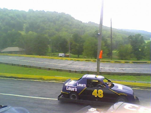 Was that Jimmie Johnson? No, but one little guy got to drive like him for awhile at the KY Action Park go-cart track on the way to Mammoth Cave
