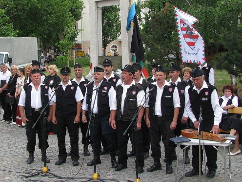 The Magyar Gárda (Hungarian Guard) in Békéscsaba on June 4 2009, Trianon-day