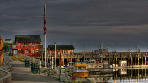 This is the boardwalk in Bandon, Oregon. A quaint seaside town on the southern Oregon Coast.