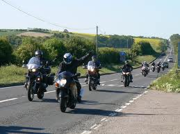 Burning rubber on the A10 near Reed, a posse of bikers slows near the Silver Ball cafe