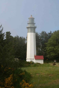 This is a lighthouse in the Westport Light Park we saw.