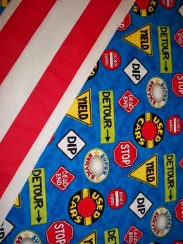 Kids love fabrics with bright prints!