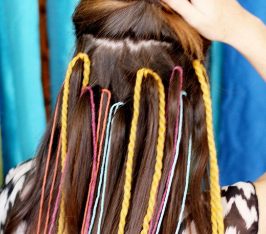 These colored strands add glamour