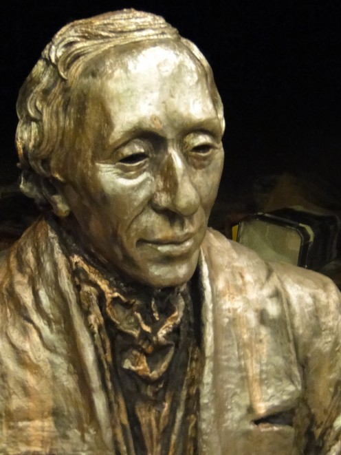 The sculpture of Hans Christian Andersen