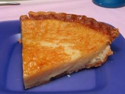 Creamy Egg Custard Pie