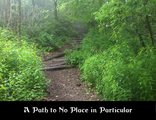 This looks like a perfect path to no place in particular, lets get started!