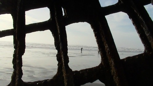 While on a walk up near Astoria, OR and while camping at Ft. Steven's... We visit the Peter Iredale Ship Wreck