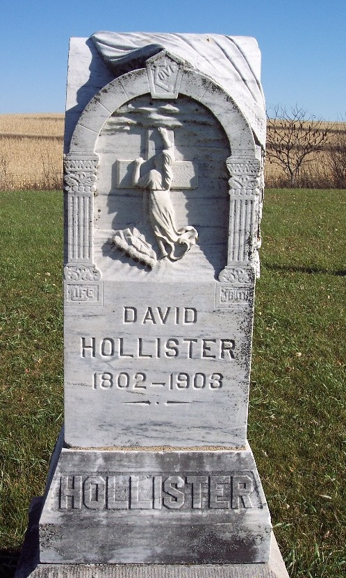 A cemetery in Iowa can be accessed from a dining room table in Chicago to find David Hollister. Born in New York of colonial roots; would trek cross country from Pennsylvania, first to Wisconsin and then in to western Iowa.