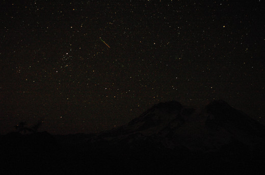 A meteor caught in a 30 second exposure.