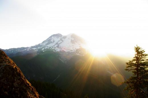 Sunrise on the mountain.