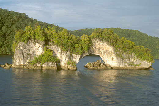 One of the many Rock Islands, Palau Islands, Micronesia.