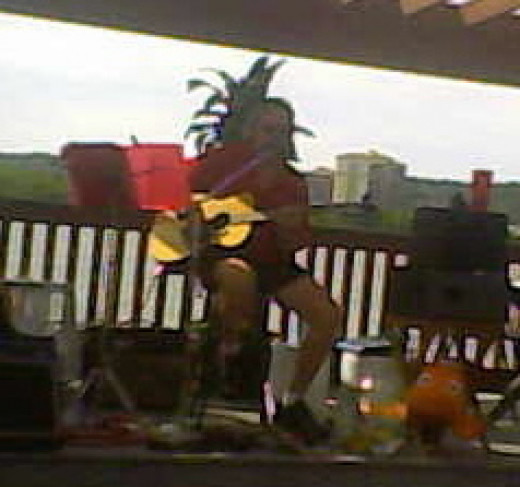 "Michael Kruse plays ""Little Martha"" on the Ohio River at The Sunset Bar & Grill in Warsaw, Kentucky"