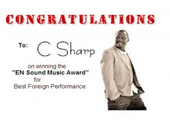 Recording Artist From South Africa Wins
