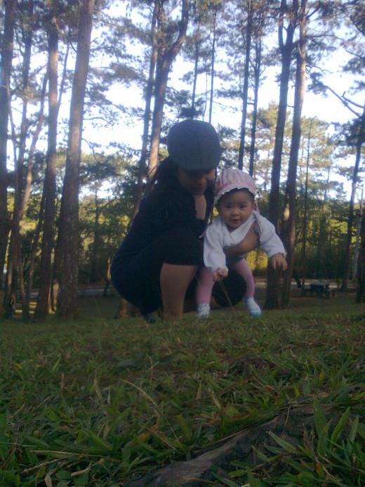 Yna loves grass