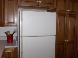 Even older refrigerators are more energy efficient when there is a clear space around them for air to circulate.