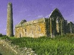Round Tower and one of the 7 churches on Scattery Island