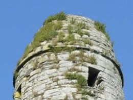 Window at top of Round Tower on Scattery Island
