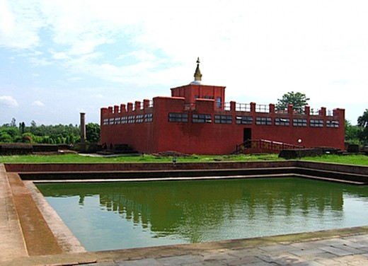 MayaDevi Temple, Lumbini. The exact spot where the Buddha was born is inside the temple.