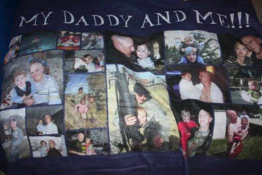 My sons Daddy blanket