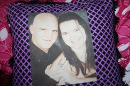 My pillow from my Aunt Kathy