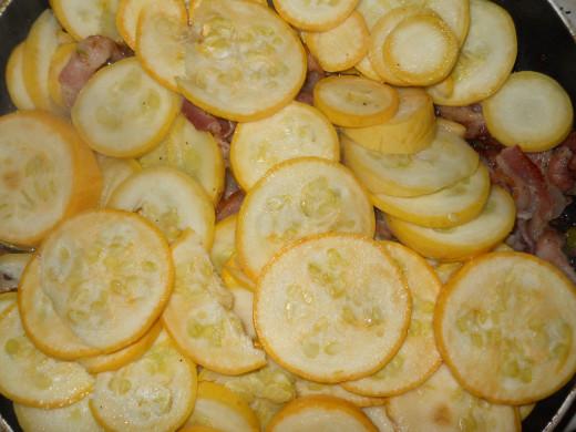 3) Add yellow squash