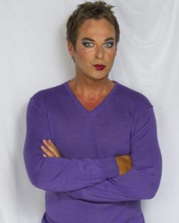 Camp comedian Julian Clary