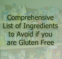If you are gluten free these are the product ingredients you must avoid to stay healthy.