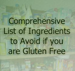 GF Foods Ingredients to Avoid on a Gluten Free Diet