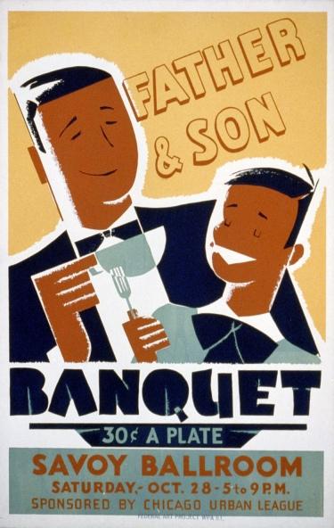 Father & Son Banquet, 1939.   Artist: Albert M. Bender.