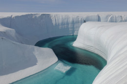 One of many stunning images of the severe ice melt in Greenland today.