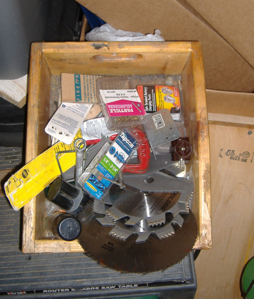 One of many junk boxes with larger parts